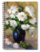 White Rose Elegance Spiral Notebook