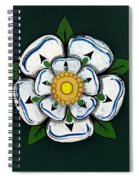 White Rose Of York Spiral Notebook
