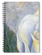 White Rose One Panel One Of Four Spiral Notebook