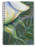 White Rose One Panel Four Of Four Spiral Notebook