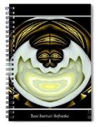 White Rose Polar Coordinates Spiral Notebook