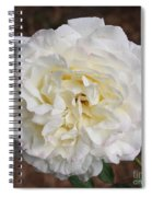 White Rose Square Spiral Notebook