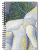 White Rose Two Panel One Of Four Spiral Notebook