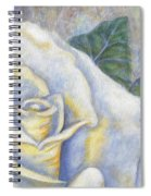 White Rose Two Panel Two Of Four Spiral Notebook
