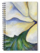 White Rose Two Panel Three Of Four Spiral Notebook