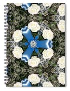 White Roses And Babys Breath Kaleidoscope Spiral Notebook