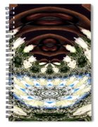 White Roses And Babys Breath Polar Coordinates Effect Spiral Notebook