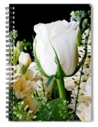 White Roses Close Up Spiral Notebook