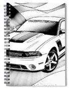 White Roush Mustang Spiral Notebook