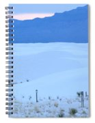 White Sands New Mexico Spiral Notebook