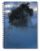 White Sands Turns Blue Spiral Notebook