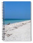 White Sandy Beach Spiral Notebook
