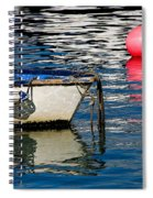 White Skiff - Lyme Regis Harbour Spiral Notebook