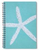 White Starfish Spiral Notebook