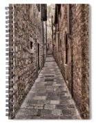 White Streets Of Dubrovnik No3 Spiral Notebook
