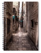 White Streets Of Dubrovnik No5 Spiral Notebook