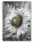White Sunflower Spiral Notebook