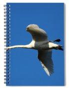White Swan In Flight Spiral Notebook
