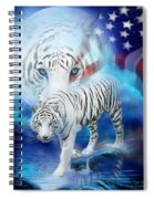 White Tiger Moon - Patriotic Spiral Notebook
