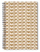 White Triangles On Burlap Spiral Notebook