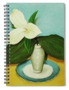 White Trillium Spiral Notebook