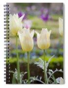 White Tulips In Parisian Garden Spiral Notebook