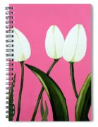 White Tulips On Pink Spiral Notebook