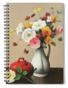 White Vase And Red Box Spiral Notebook
