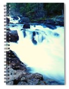 White Water On The Ohanapecosh River  Spiral Notebook