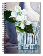 White White Jasmine  Spiral Notebook
