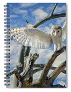White Wide Wings Spiral Notebook