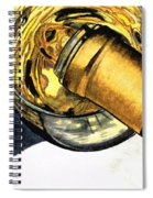 White Wine Art - Lap Of Luxury - By Sharon Cummings Spiral Notebook