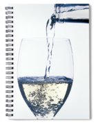 White Wine Pouring Spiral Notebook