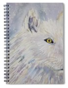 White Wolf Of The North Winds Spiral Notebook