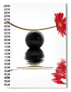 White Zen Gerbera Spiral Notebook