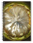 White Zinnia Button Spiral Notebook