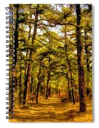 Whitebog Village Woods In New Jersey  Spiral Notebook