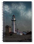 Whitefish Point Lighthouse Lake Superior Spiral Notebook