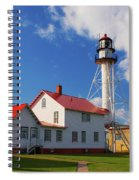 Whitefish Point Lighthouse Mi Spiral Notebook