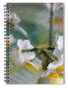 Whiteness In The Vase Spiral Notebook