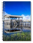 Whites And Blues Spiral Notebook