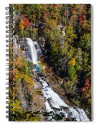 Whitewater Falls With Rainbow Spiral Notebook