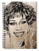 Whitney Houston In 1992 Spiral Notebook
