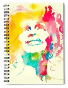 Whitney Houston Watercolor Canvas Spiral Notebook