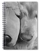 Who Has The Biggest Nose Golden Retriever Dog  Spiral Notebook