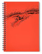 Whooper Swan Red Abstract Spiral Notebook