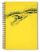 Whooper Swan Yellow Abstract Spiral Notebook
