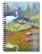 Whooping Crane - Searching For Frogs Spiral Notebook