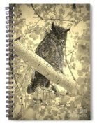 Who's Watching - Sepia Spiral Notebook