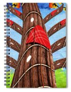 Why Pick On Me Guitar Abstract Tree Spiral Notebook